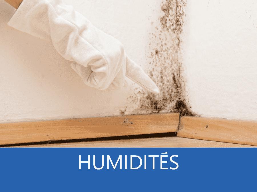 Humidité, problème d'humidité, appartision de taches d'humidités,
